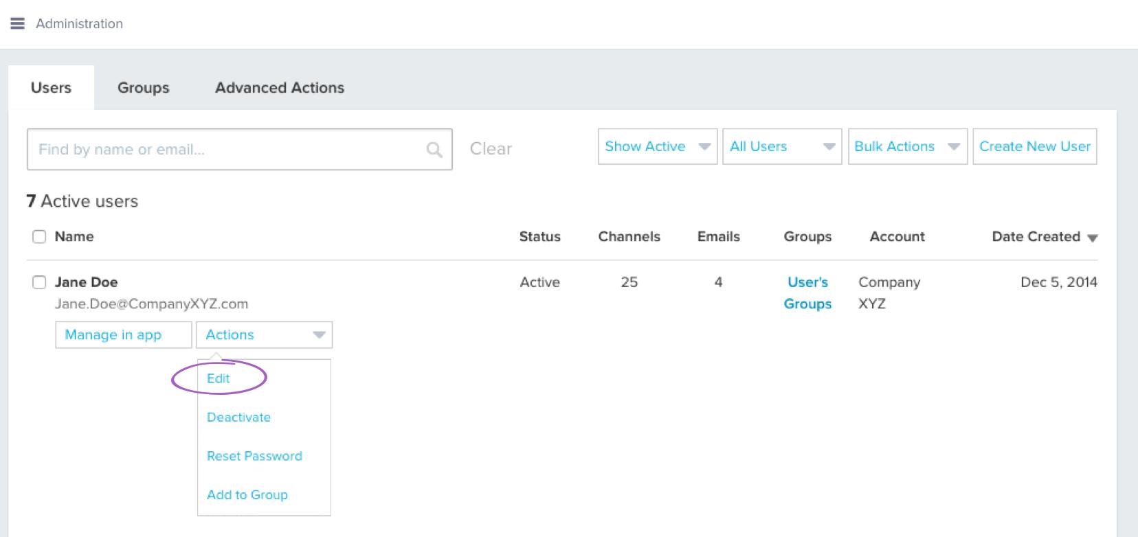 Admin Actions Edit