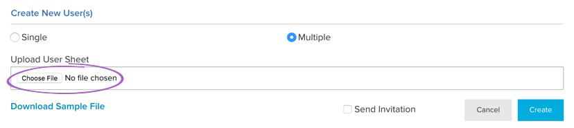 Choose File for Multiple Users