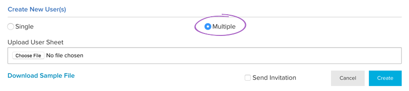 Create Multiple Users