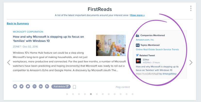 FirstReads Mentioned
