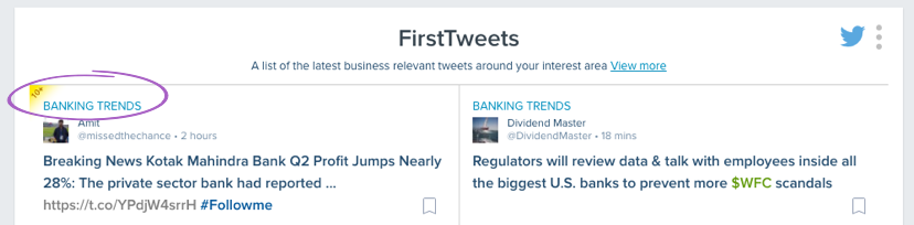 FirstTweets - topic