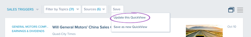Update this Quickview